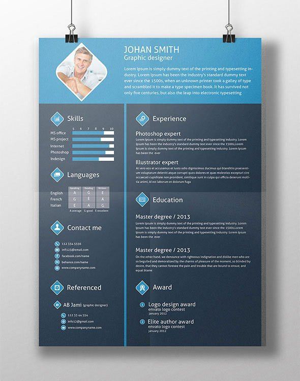 10 Fresh Free & Premium Resume (CV) Template Design & Cover Letter ...