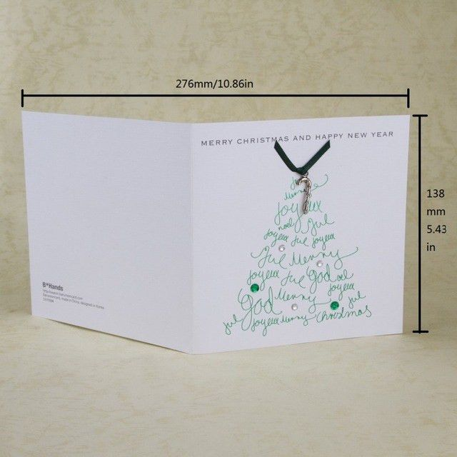 Aliexpress.com : Buy Christmas Card Creative Words Design New Year ...