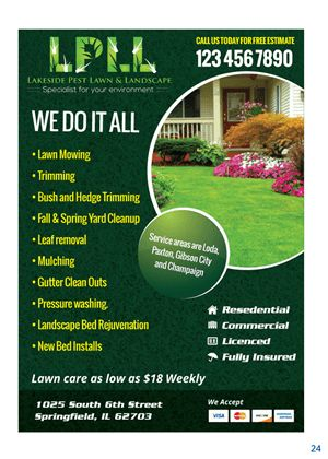 29 Colorful Professional Lawn Care Flyer Designs for a Lawn Care ...
