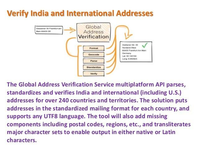 International Address Verification Service API – Melissa Data
