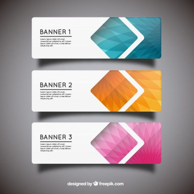 Geometric banner templates Vector | Free Download