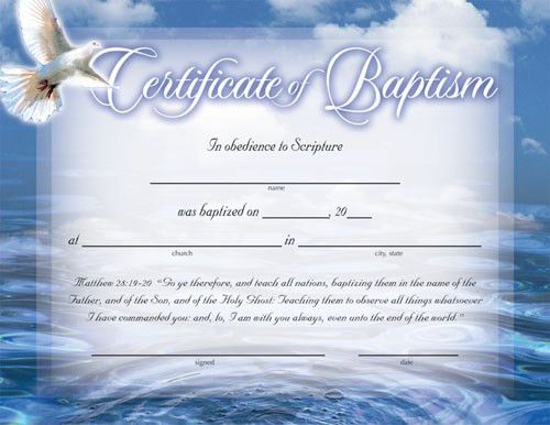 baptism certificates free | Certificate of Baptism :: Certificates ...