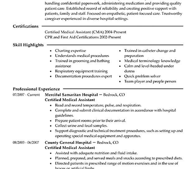 Resume Examples Templates: Professional Medical Assistant Resume ...