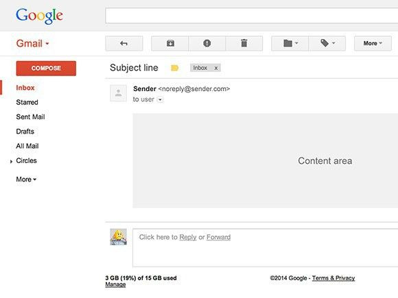 Gmail UI PSD template - Freebiesbug