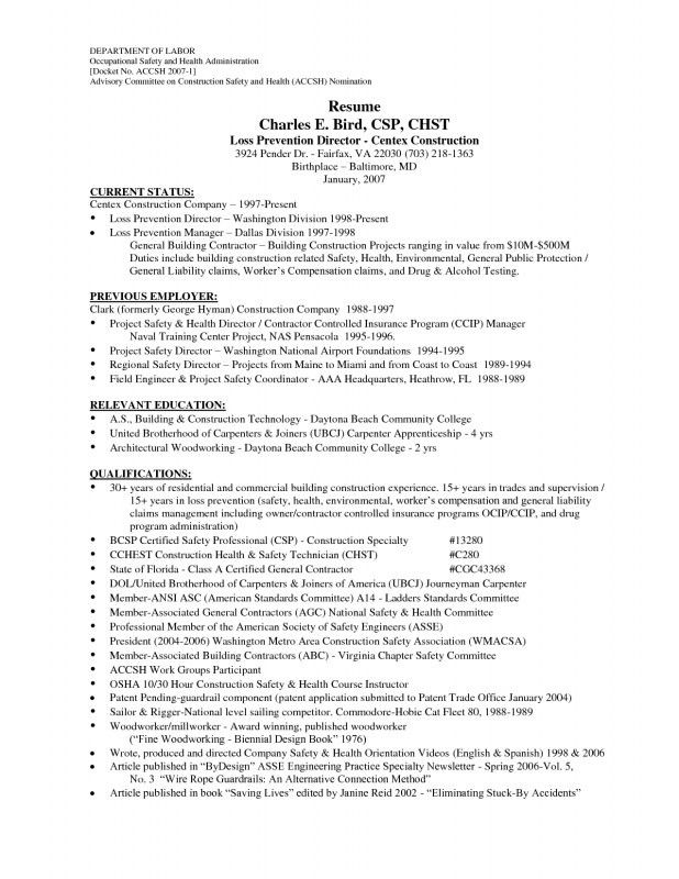 Stylish Ideas Construction Worker Resume 2 Construction Worker ...