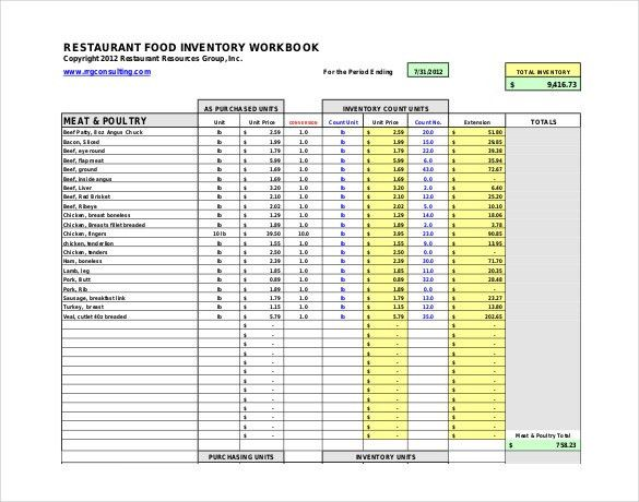 Restaurant Inventory Template - 22+ Free word, Excel Documents ...