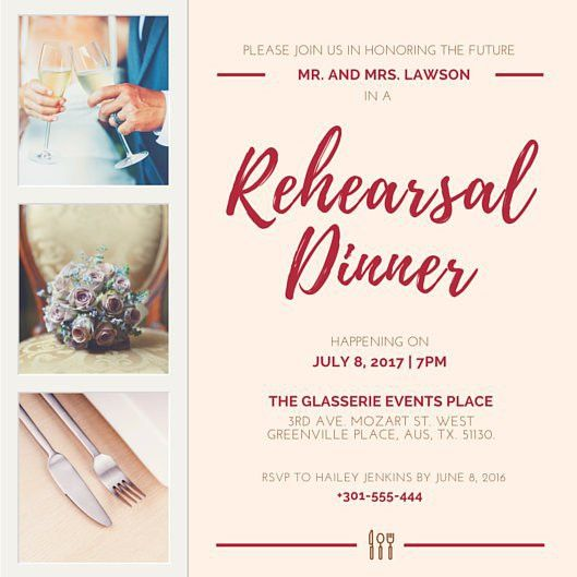 Rehearsal Dinner Invitation Templates - Canva