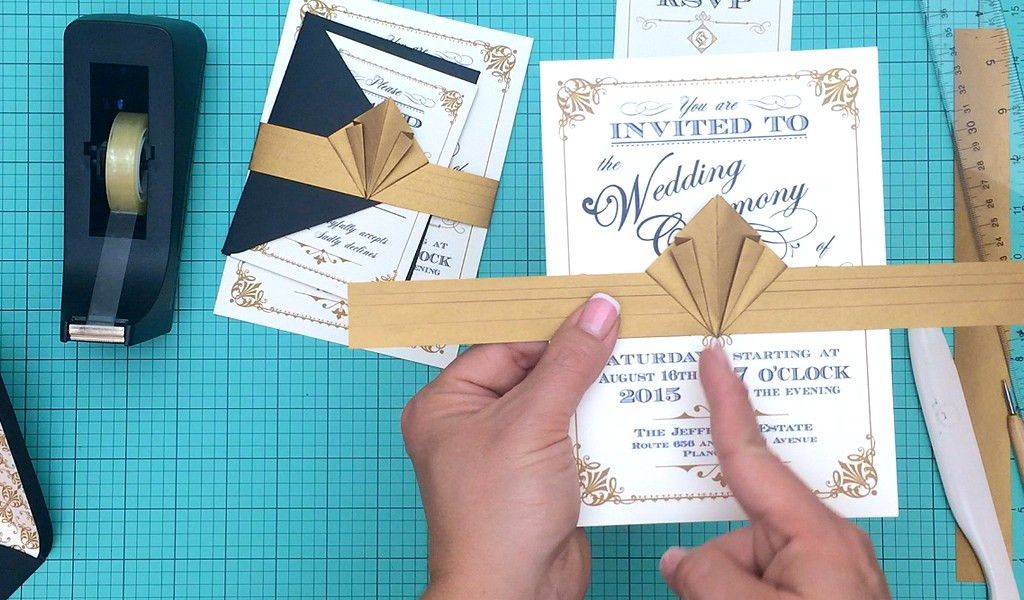 DIY Vintage Wedding Invitation with Free Template