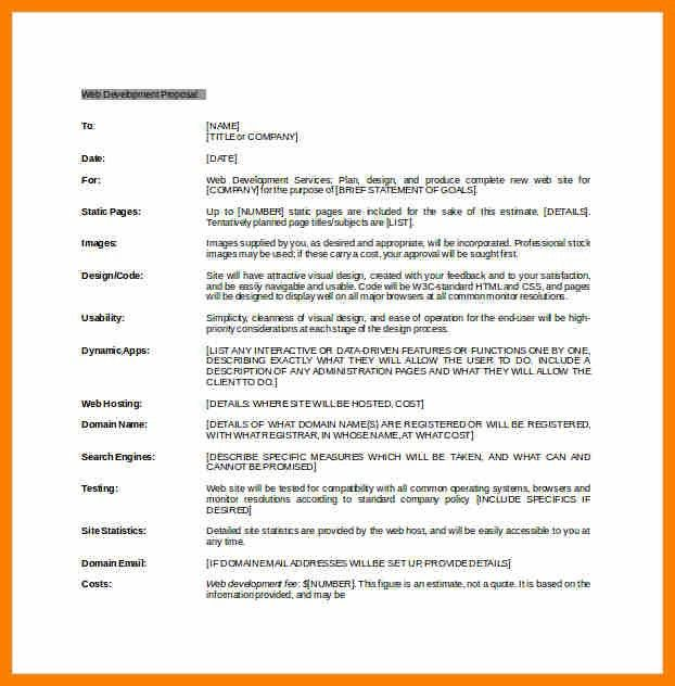 7+ web design proposal example | science-resume