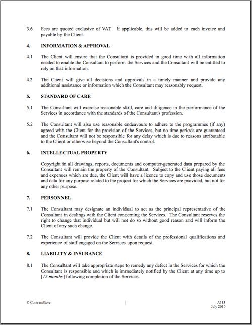 10 Best Images of Standard Contract Agreement Template ...