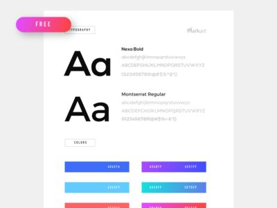 Styleguide Free Template by Mark Gerkules - Dribbble
