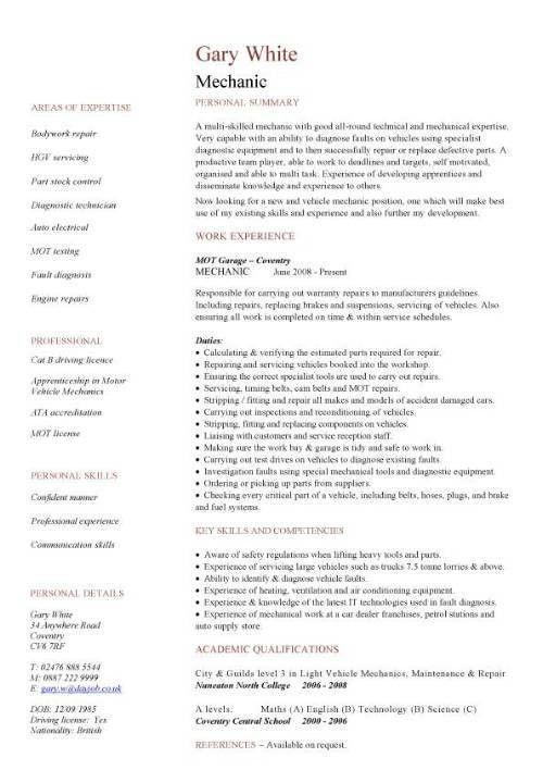 Engineering CV template, engineer, manufacturing, resume, industry ...
