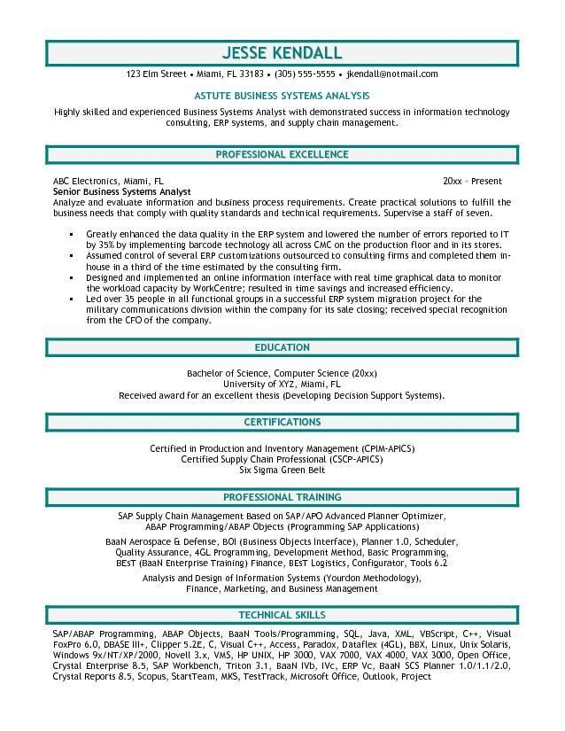 business analyst resume examples - thebridgesummit.co