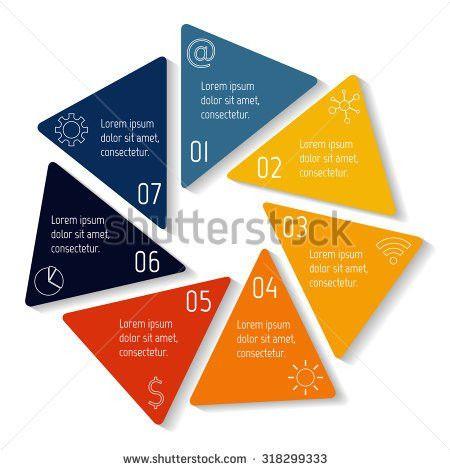 Circle Hexagon Infographic Design Template Round Stock Vector ...