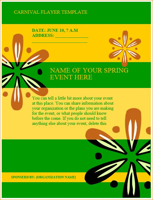 5+ carnival flyer template | Outline Templates