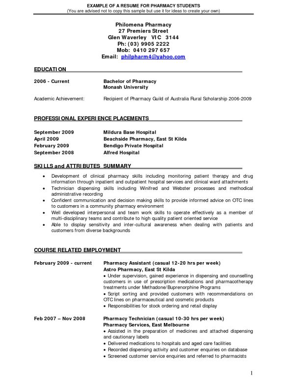 retail pharmacist resume hospital pharmacist resume sample