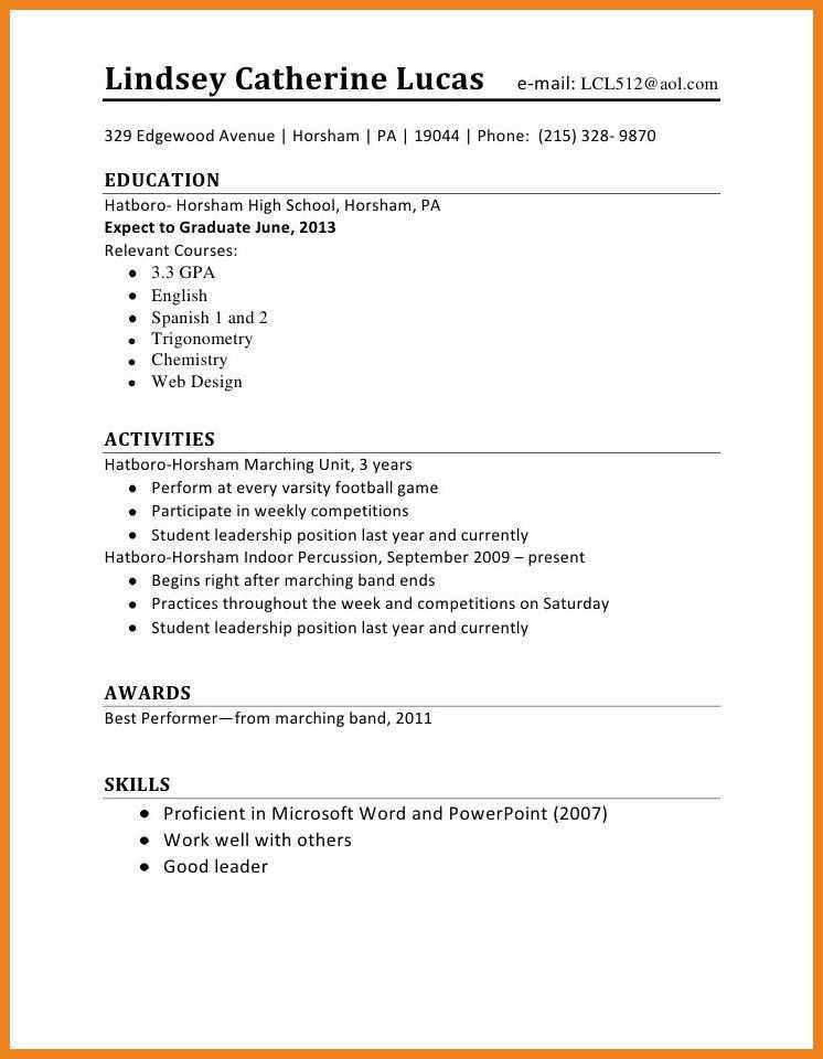 Teenager Resume, resume examples for teens. high school student ...