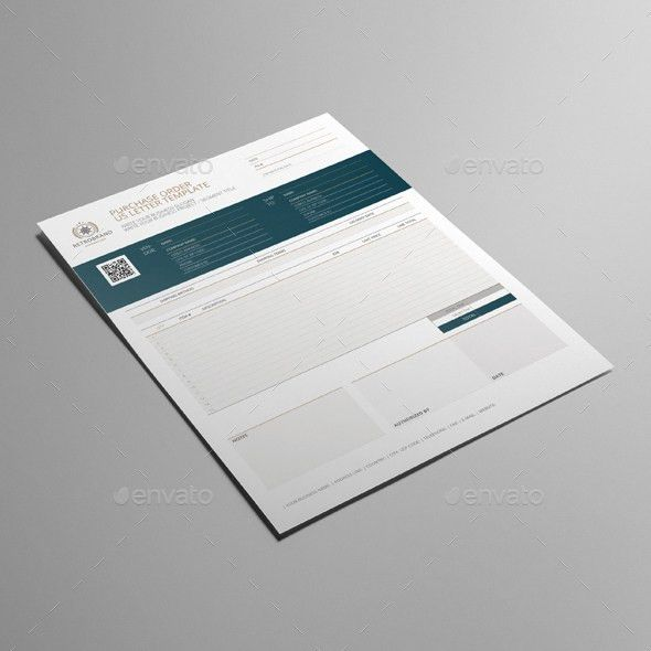Purchase Order US Letter Template by Keboto | GraphicRiver