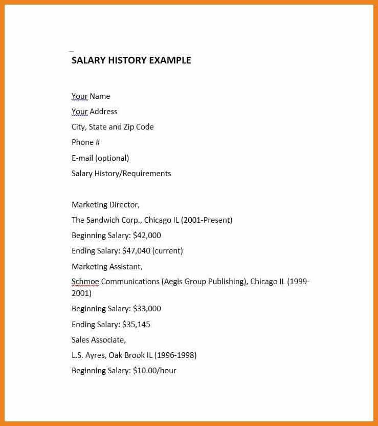 salary history format | teller resume sample