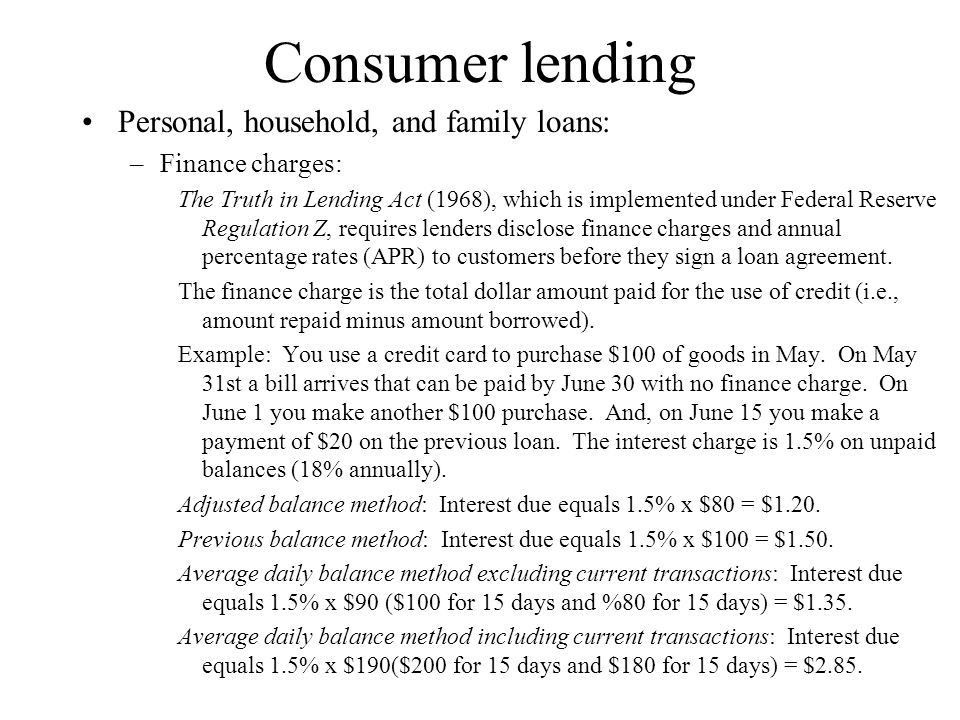 Real Estate and Consumer Lending - ppt download