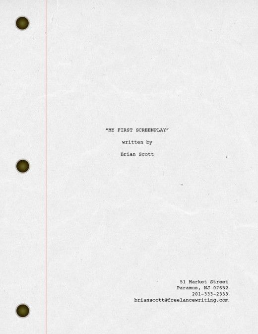 How to Format a Title Page for Your Screenplay | ReelRundown