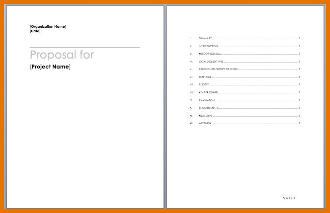 8+ microsoft word proposal template | Itinerary Template Sample