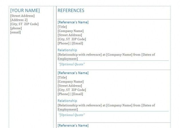 Resume References Example – Resume Examples