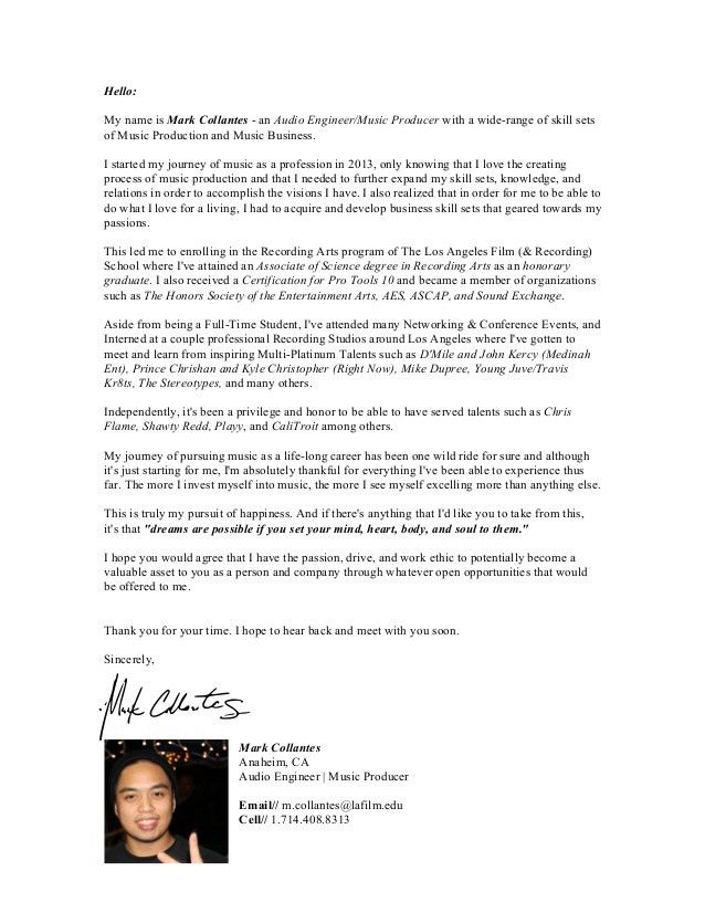 General Cover Letter - June 2015