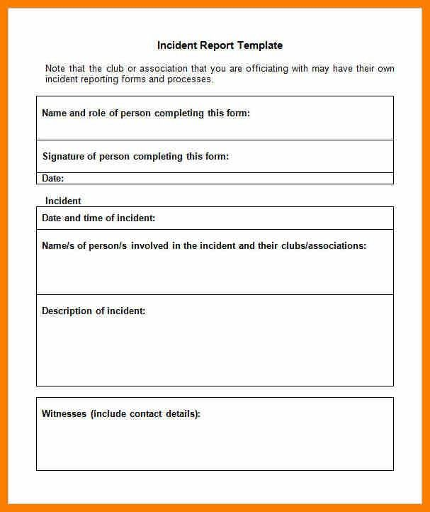 Incident Report Forms. Incident Report Form Child Care | Click On ...