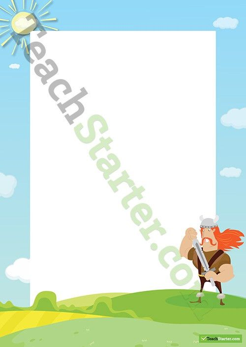 Viking Page Border - Word Template Teaching Resource – Teach Starter