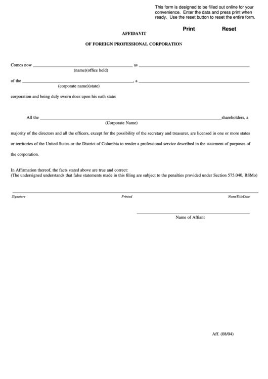 655 Affidavit Form Templates free to download in PDF, Word and Excel