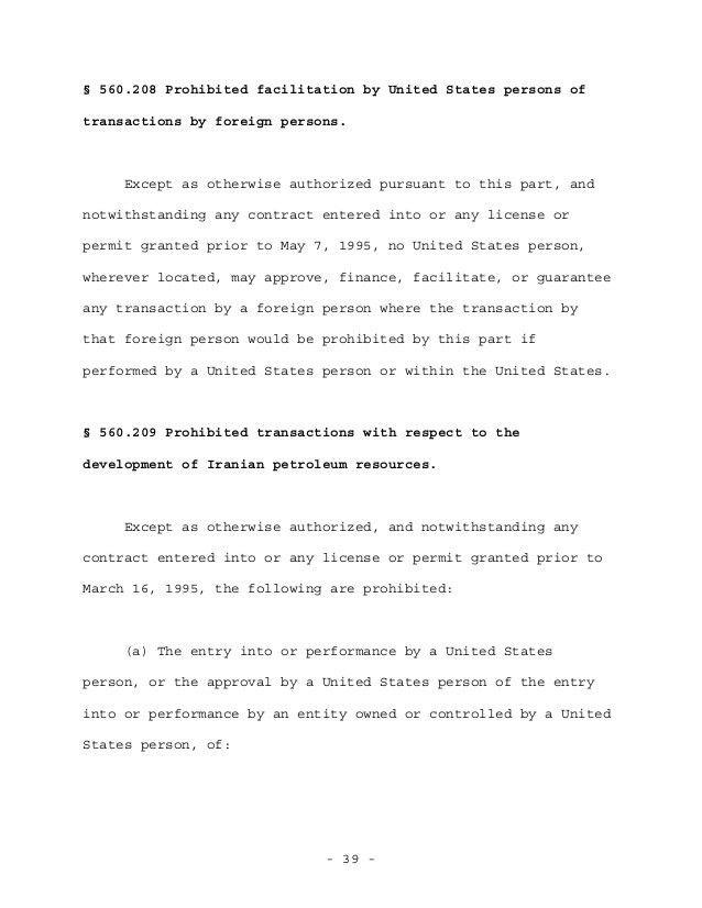OFAC final rule Iranian transactions 10 22-2012