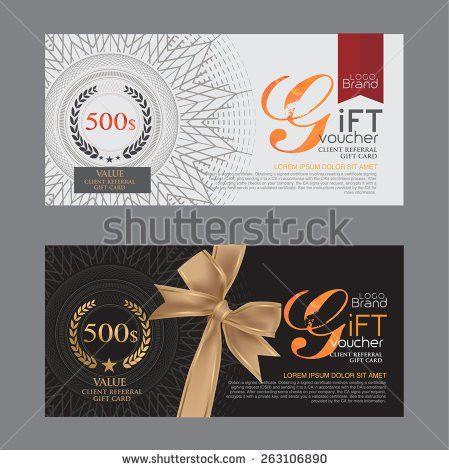 Gift Voucher Template Stock Vector 337662152 - Shutterstock