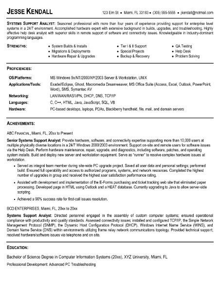 Business Systems Analyst Resume Example 10 | ilivearticles.info