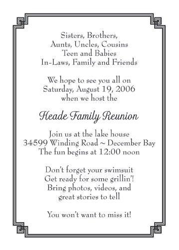 Family Reunion Invitation, Style fr-05
