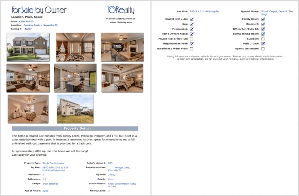House For Sale Brochure Template | Template Cards