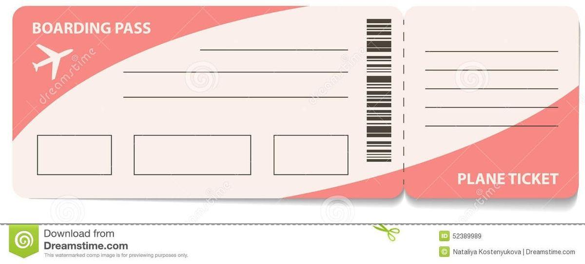 Plane Ticket Template | ossaba.com