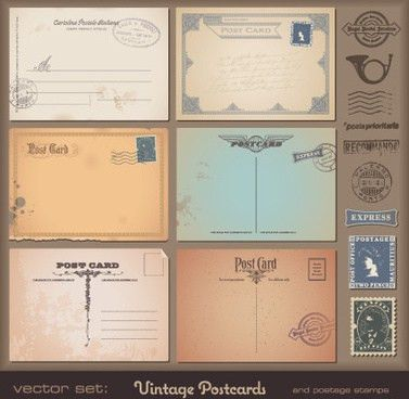 Vintage postcards free vector download (6,622 Free vector) for ...