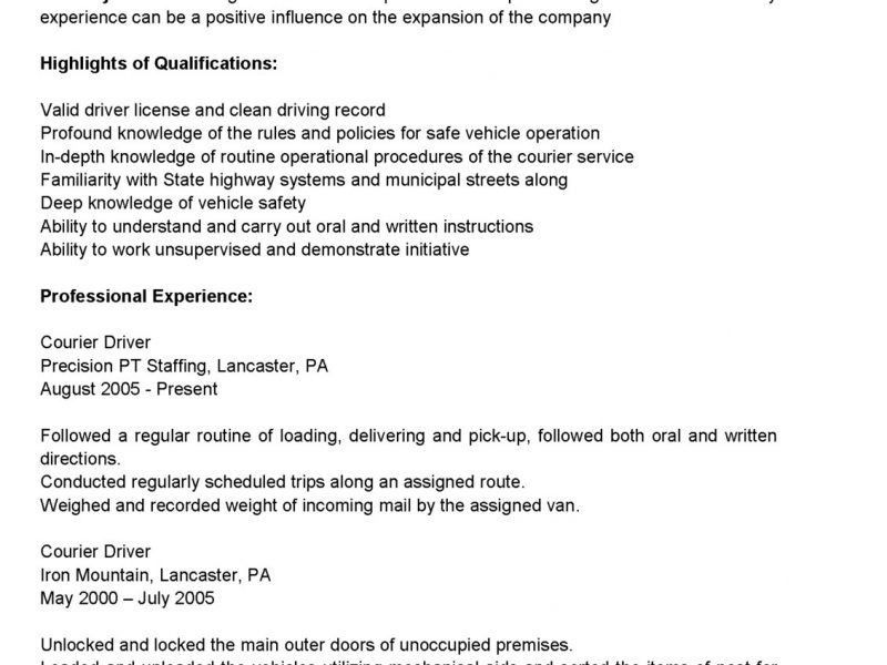 Cdl Driver Resume] Unforgettable Truck Driver Resume Examples To .