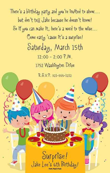 Funny Birthday Party Invitation Wording | cimvitation