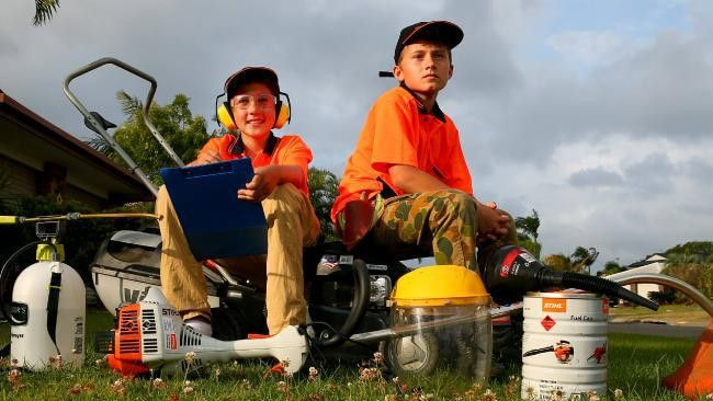 Gold Coast teens take on veteran mowers with their new business ...