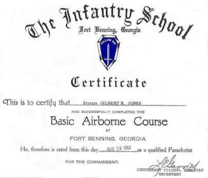 Airborne School Certificate