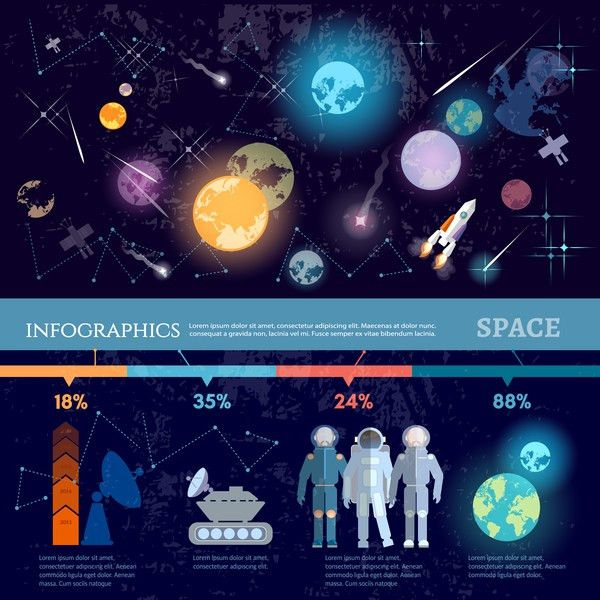 Space infographic template vectors material 04 - Vector Business ...