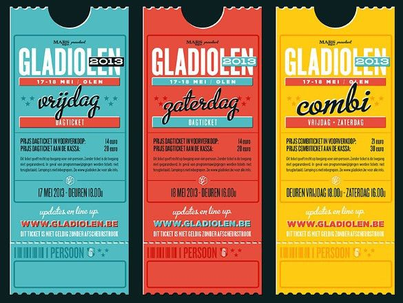 26+ Inspiring Examples of Ticket Designs | Free & Premium Templates