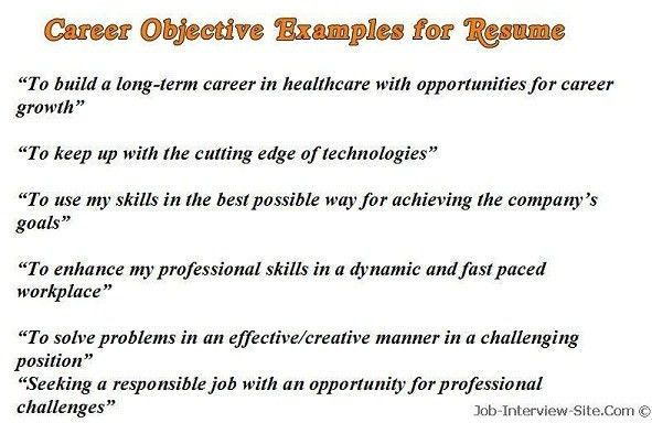 Download Resume Sample Objectives | haadyaooverbayresort.com