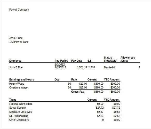 Earnings Statement Template, 12+ earnings template delivery ...