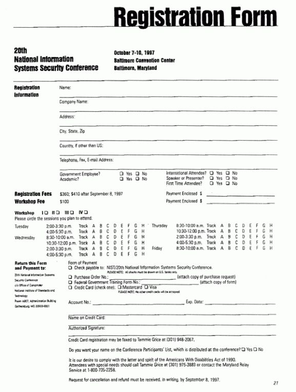 Registration Form Templates - Find Word Templates