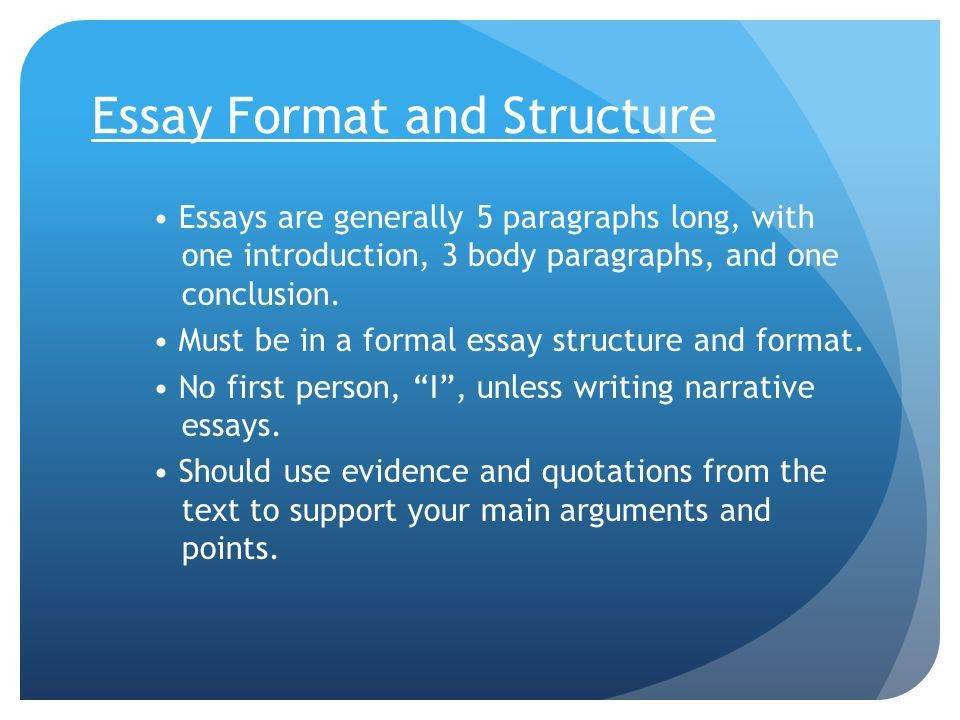 the format of essay