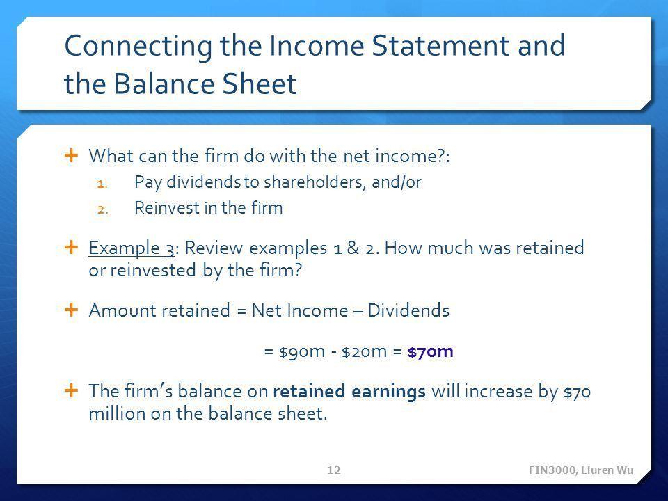 FIN 3000 Chapter 3 Financial Statements Liuren Wu FIN3000, Liuren ...
