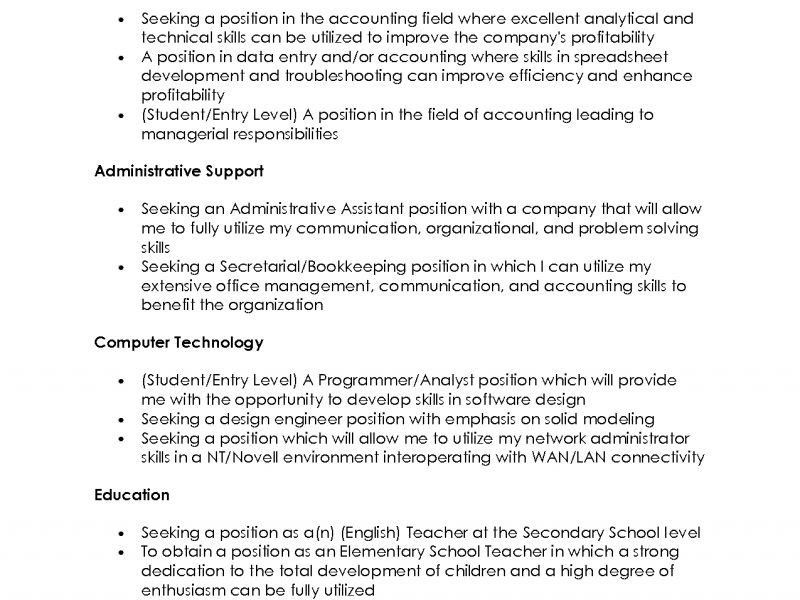 Stunning Good Resume Objective Statement 16 Sample Of Statements ...